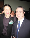 Snooker Coach Patsy Fagan with Ronnie O' Sullivan