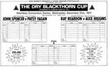 Dry Blackthorn Cup Score Card
